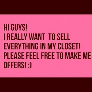 Selling everything in my closet